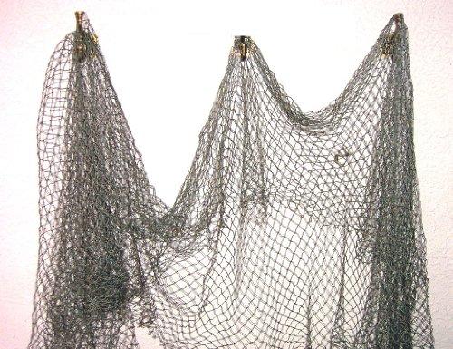 Fishing Ornament Aquarium (Fish Net Nautical Fishing Decor Large Mesh by TikiZone)