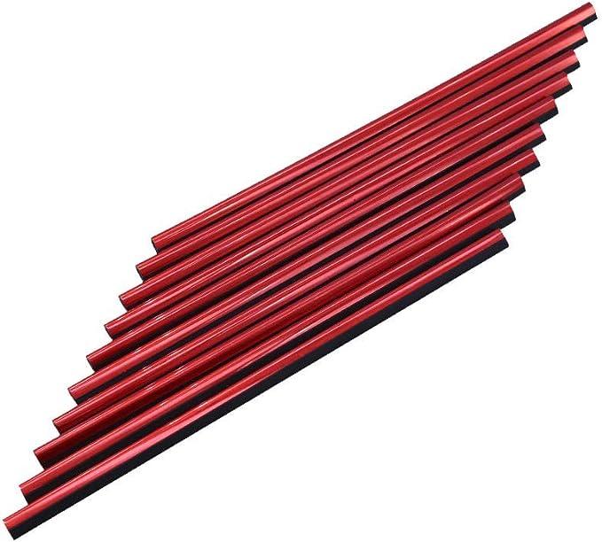 10 Stück Auto Lüftungsschlitz Auslassleiste Auto Styling Lüftungsgitter Auslass Zierleiste Leiste Innenverkleidung Dekoration Rot Auto