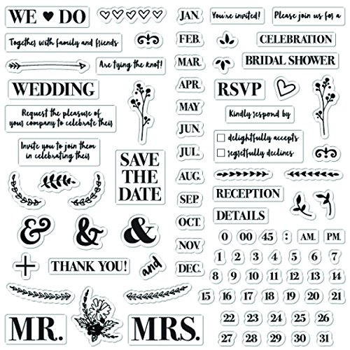 Fisaks 4x8 Inch Clear Stamps - DIY Wedding