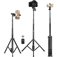 Selfie Stick Tripod, Eocean 3 in1 54 Inch Extendable Camera Tripod for Cellphone and Gopro, Compatible with iPhone Xs/Xr/Xs Max/X/8/8Plus/7/Galaxy Note 9/S9/Huawei/Google/Xiaomi