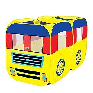 Liergou - Tenda da Gioco per Bambini, casetta di Giochi per Bambini, Autobus, Portatile, Gioco per la casa, la Palla, la Piscina, per Interni ed Esterni