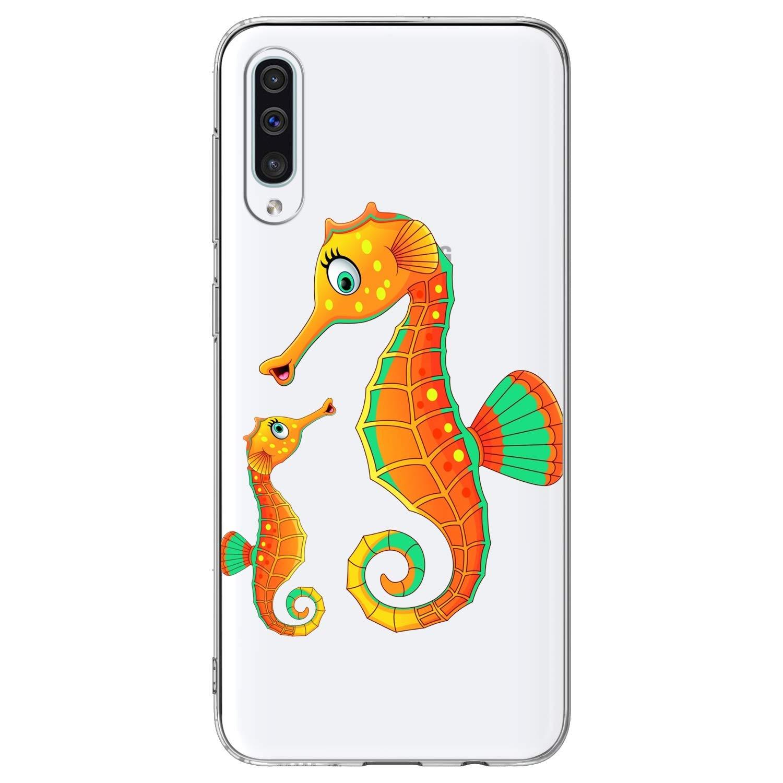 Moon Wolf FfyOMs Funda Flexible de TPU Resistente a los Rasgu/ños Port/átil Funda Protectora para Tel/éfono M/óvil Compatible con Samsung Galaxy A50