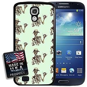 Smoking Skeleton Hipster Pattern Galaxy S4 Hard Case by mcsharks