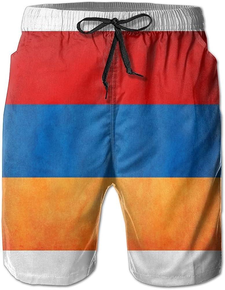 LUASD Mens Vintage Armenia Greatness Flag Quick Drying Moisture Perspiration Beach Pants Swim Trunks