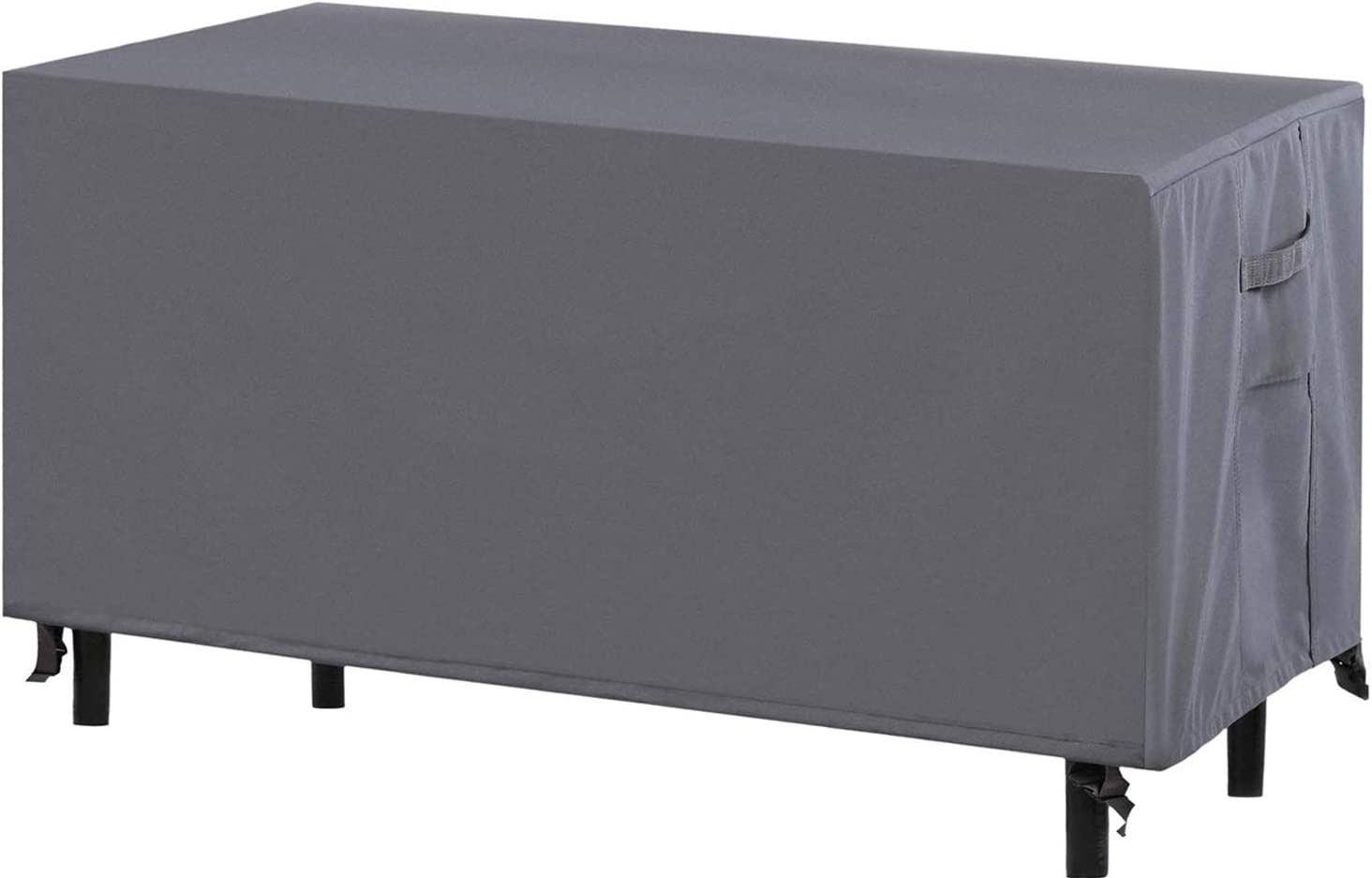Coffee Table Cover | All Weather Outdoor Patio Furniture Cover | Air Vents | Waterproof | Dustproof / Windproof / Fade Resistant Fabric | Secure Fit with Buckel / Draw Cord Locking System |