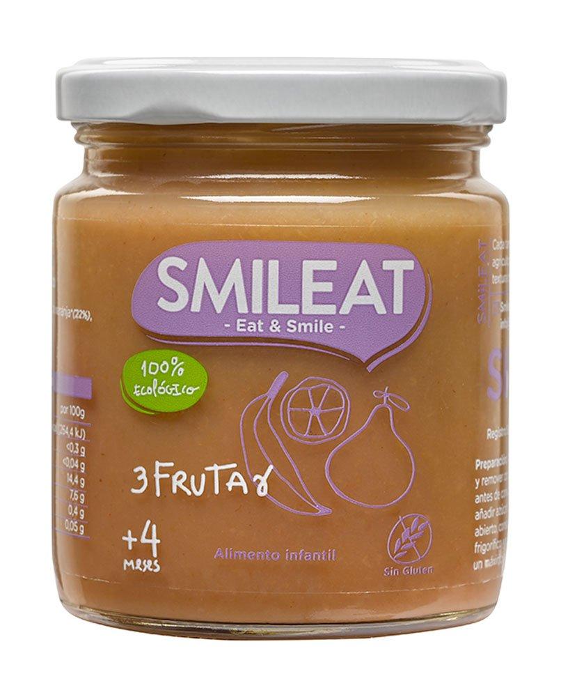 Smileat Tarrito de Tres Frutas Ecológico - 230 gr: Amazon.es: Alimentación y bebidas
