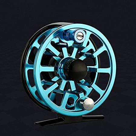 Yellow 5//6 Aluminum Fly Fishing Reel Right or Left Handed 85mm USA