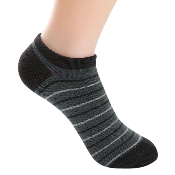 Kinlene 5 pares de hombres de fibra de bambú mocasines calcetines de barco Liner Low Cut No Show Calcetines: Amazon.es: Ropa y accesorios
