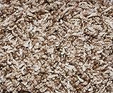 6'x9′ Indoor Frieze Shag Area Rug – Bramble II- plush textured carpet with Premium BOUND Polyester Edges.