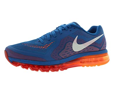 d4d9d030bf96e Nike Air Max 2014 Men's Blue & Orange Mesh & Synthetic Running Shoes ...