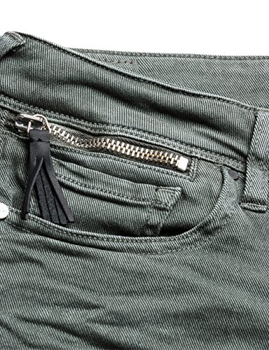 Replay Coin Jeans Green Donna Luz Zip Skinny Sage 5rqTt5xw