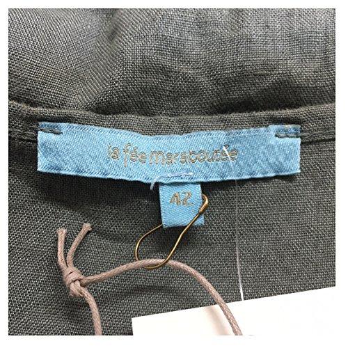 IT LA DE UK 100 FR 14 46 42 militare L applicazioni donna ITALY MADE IN abito lino FEE con MARABOUTEE tinta in 40 rwfqTH6xr