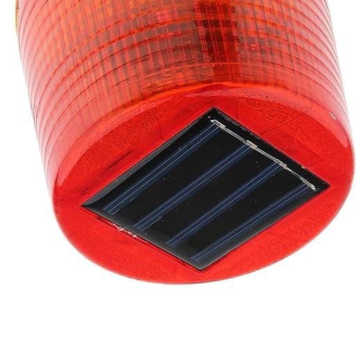 und Notf/älle Bau perfk Solarbetriebenes Warnlicht-Rundes Signallampe F/ür Hafenterminals Boote