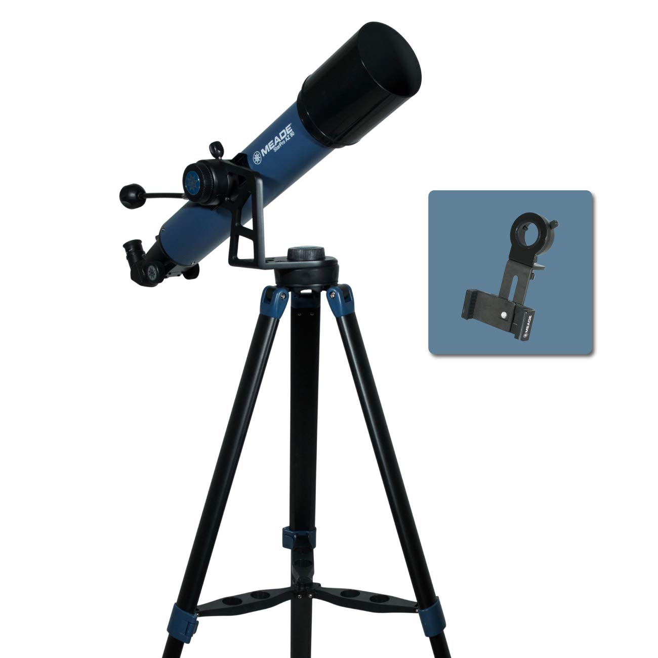 Meade Instruments 234003 Star Pro AZ 90mm Refracting Telescope and Smart Phone Adapter by MEADE