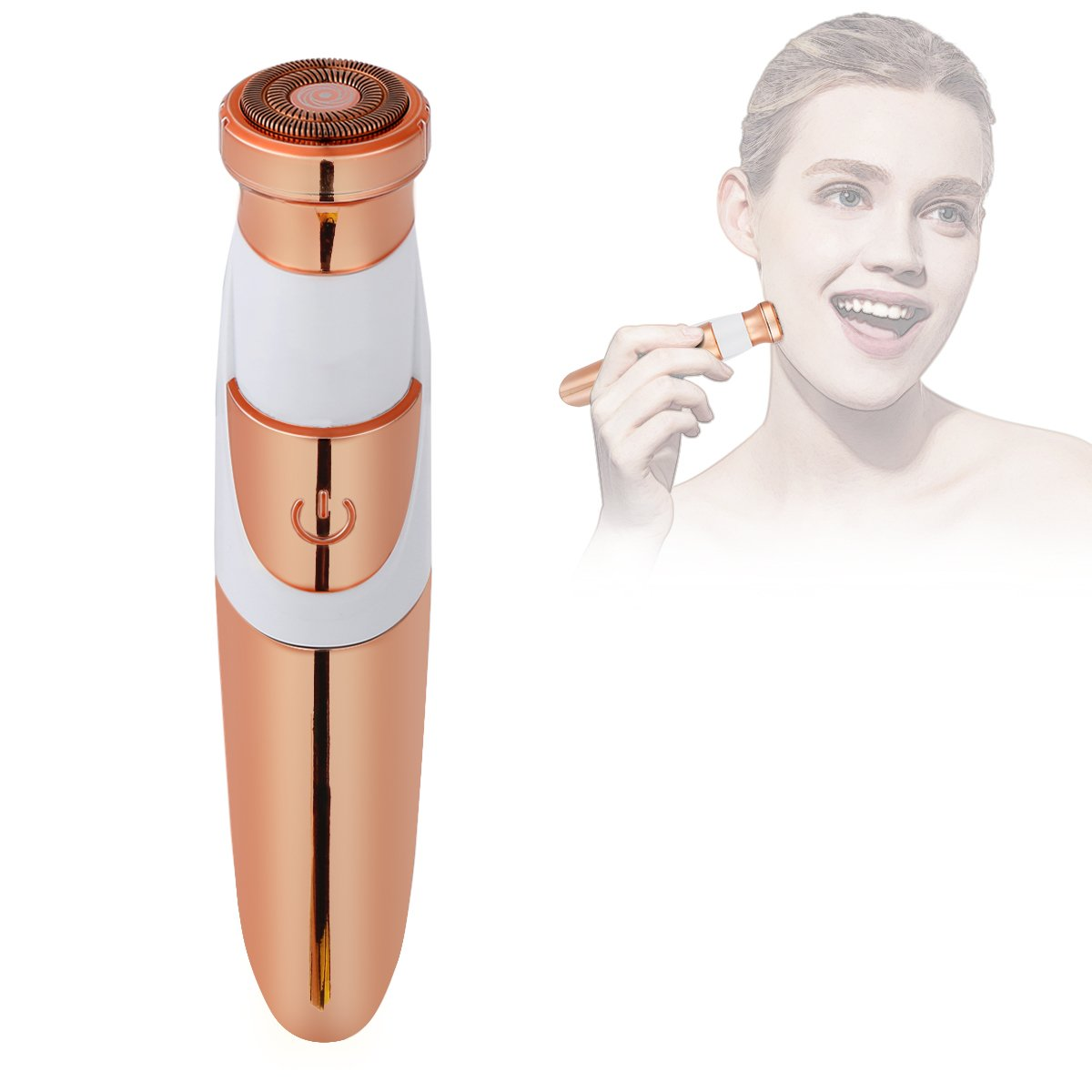 ARTIFUN Professional Electric Hair Removal for Women, Portable Battery Powered Painless Flawless Hair Remover Trimmer for Facial, Armpit, Upper Lip, Chin, Bikini Line Area, Arm, Leg and Full Body