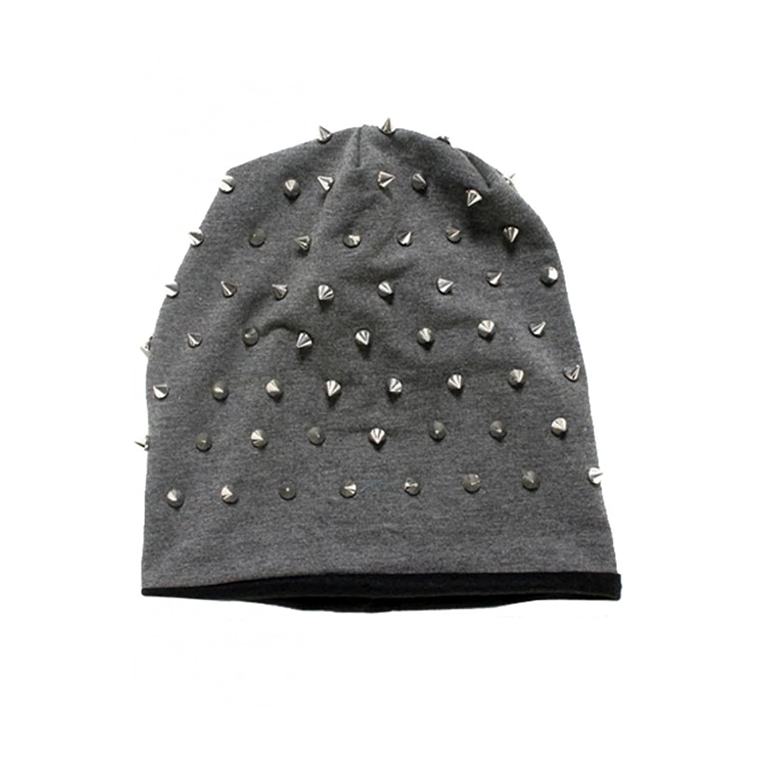 """Rocker Studded"" Knit Beanie by Inked (More Options)"