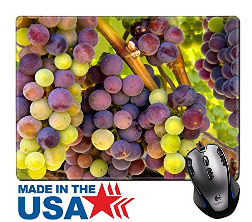 "MSD Natural Rubber Mouse Pad/Mat with Stitched Edges 9.8"" x 7.9"" IMAGE ID: 27872391 Wine Grapes Ripening on the Vine - Edge Napa Valley Cabernet"