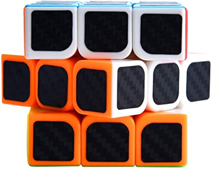 D ETERNAL Rubix Rubiks Cube 3x3x3 high Speed Magic Cube Puzzle Rubic brainteaser Toy,Carbon Fiber Sticker