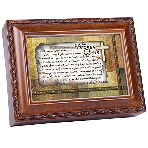 Cottage Garden The Broken Chain Inspirational Woodgrain Traditional Music Box Plays Amazing Grace ()