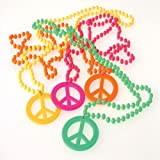 US Toy Peace Sign Necklaces Costume