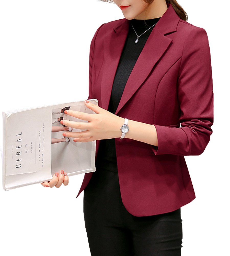 LISUEYNE Women's Formal Blazers Work Office Lady Suit Slim Business Coat