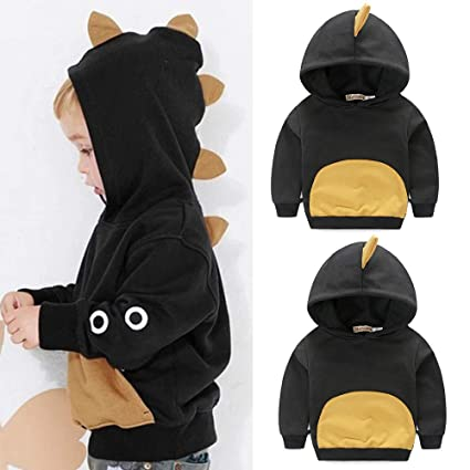 a79a9fbb7472 Image Unavailable. Image not available for. Color  Fheaven Toddler Baby  Boys Long Sleeves Sweater Dinosaur Hoodie ...
