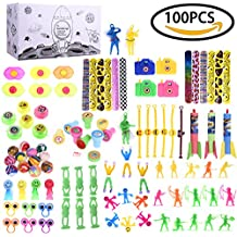 Boy's Party Favor Toy & Accessory Assortments Play Set Pack for Children's Birthday, Educational School Classroom Rewards, Carnival Prizes, Pinata, Stocking Stuffers, Goodie Bag – 100 Pcs