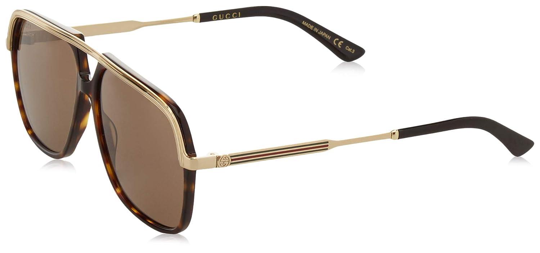 Amazon.com: Gucci Womens Unisex Square 57Mm Sunglasses: Clothing
