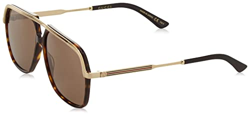05c91dced1 Gucci GG0200S 002 Occhiali da Sole, Marrone (2/Brown), 57 Unisex ...