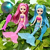 #1: 2-Piece Mermaid Doll Toy for Girls or Cake Decoration,Swim in the Water at Bath Time, the Pool, and Beach with 2 Combs
