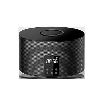 LIJIE Reloj de Alarma inalámbrico con Altavoz Bluetooth ...