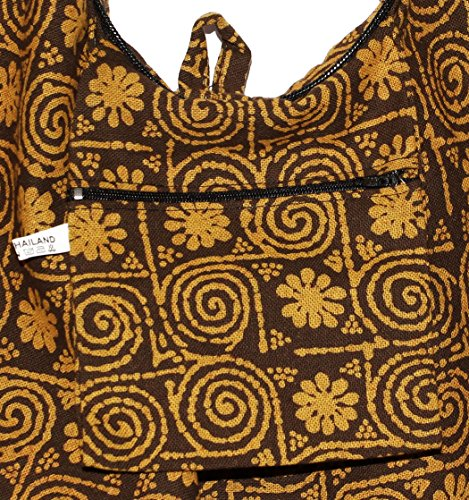 Bag Circle Boho Purse Cross Shoulder Bohemian Hobo Brown Hippie Body Flower 8wxd1nqq