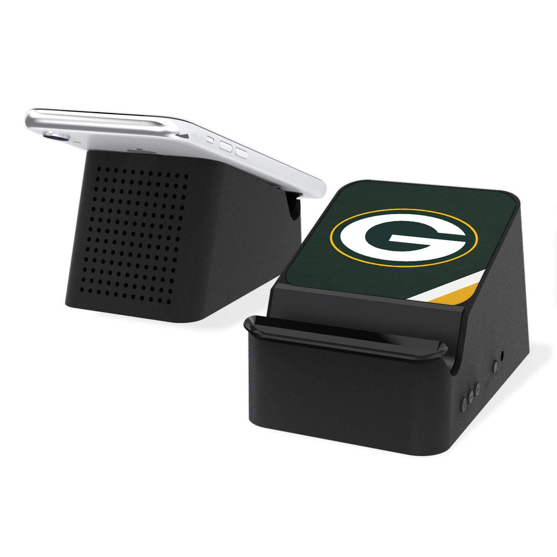 Keyscaper NFL Green BayPackers KCHG31-KNFL-GPAS01 Wireless Charging Station and Bluetooth Speaker, Black,