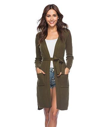 43973665c6 ENIDMIL Cardigan Sweater Knitwear Coat Outwear (Army Green