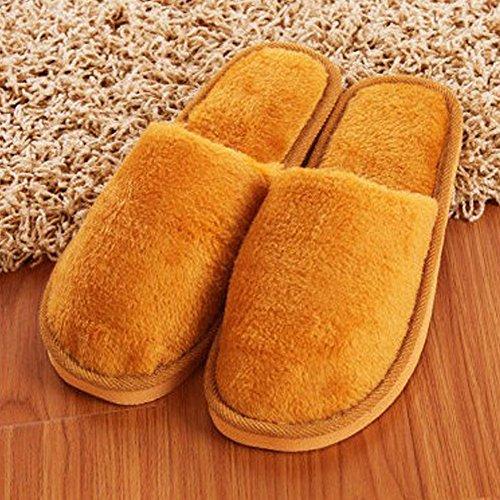Pantofole, Woopower Donna Uomo Lungo Peluche Cotone Scarpe Pantofole Invernali Indoor (maschile) Marrone