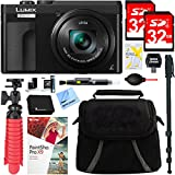 Panasonic LUMIX DMC-ZS70K 20.3 MP Digital Camera (Black) + 32GB Dual Memory Accessory Bundle