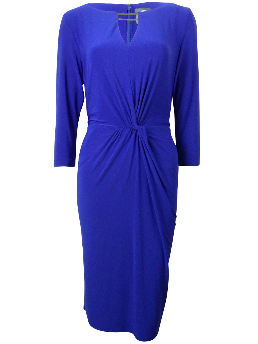 Vince Camuto Women's Long Sleeve Dress with Cutout, Cobalt, 8