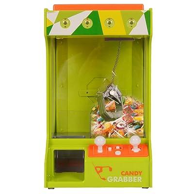 Candy Grabber Máquina de Garra con Ajustes de Volumen y Música Juego de Dulces con Luz Caramelo Grabber Cable USB: Juguetes y juegos