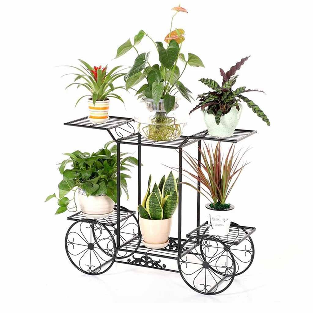 LPYMXCreative Flower Stand Flower Rack Wrought Iron Multilayer European-Style Assembled Floor Stand by LPYMX