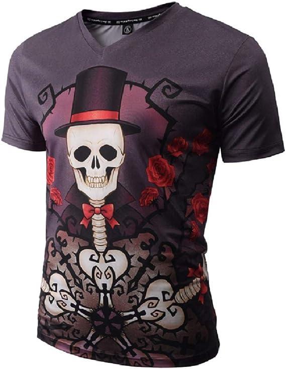 Hommes 3D Pattern imprim/é T-Shirts Chemise /à Manches Courtes /à Manches Courtes T-Shirts Blouse Tops