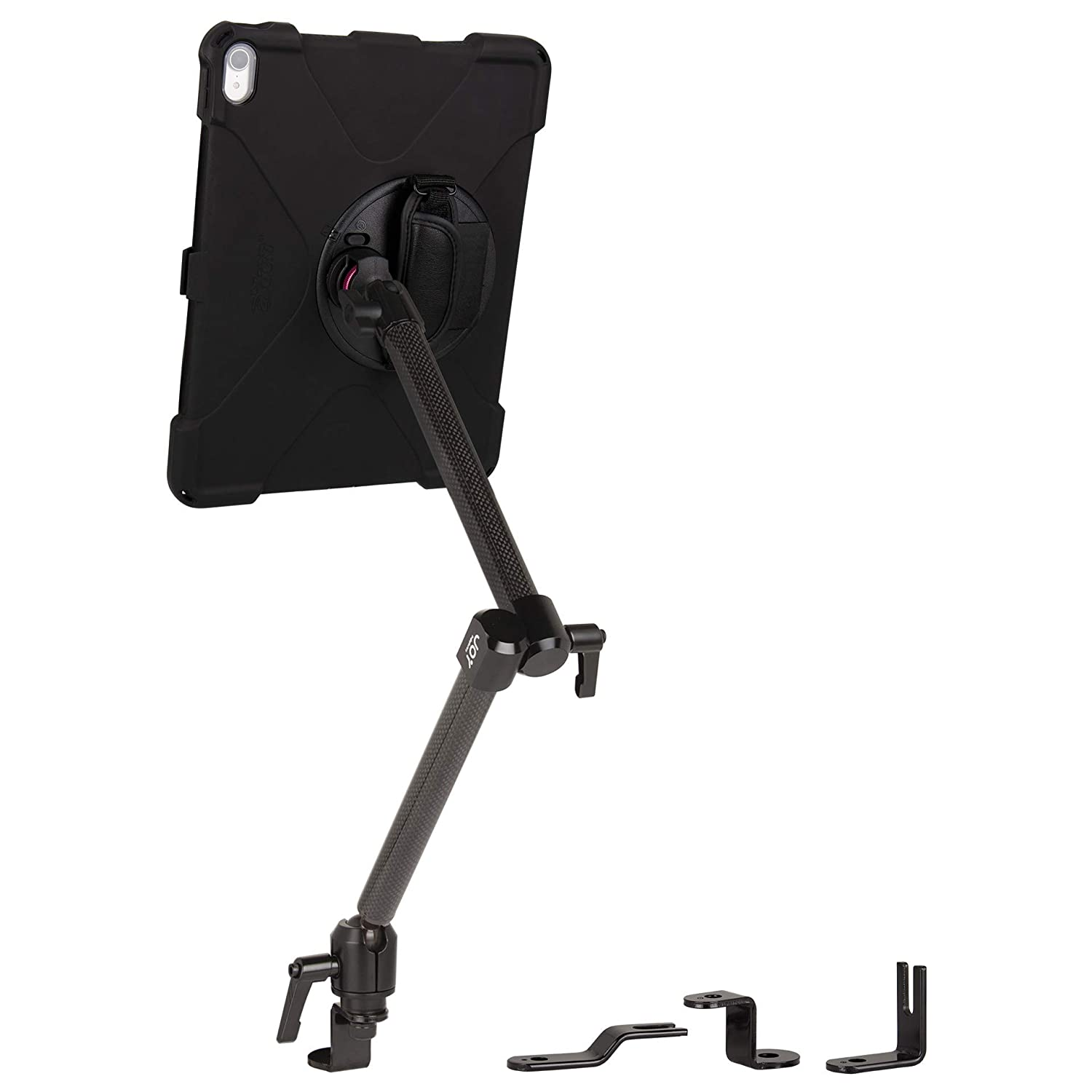 Built-in Screen Protector Hand Strap MWA4105MP The Joy Factory MagConnect Carbon Fiber Car//Truck Seat Bolt Mount w//aXtion Bold MP Water-Resistant Rugged Shockproof Case iPad Pro 12.9 3rd Gen