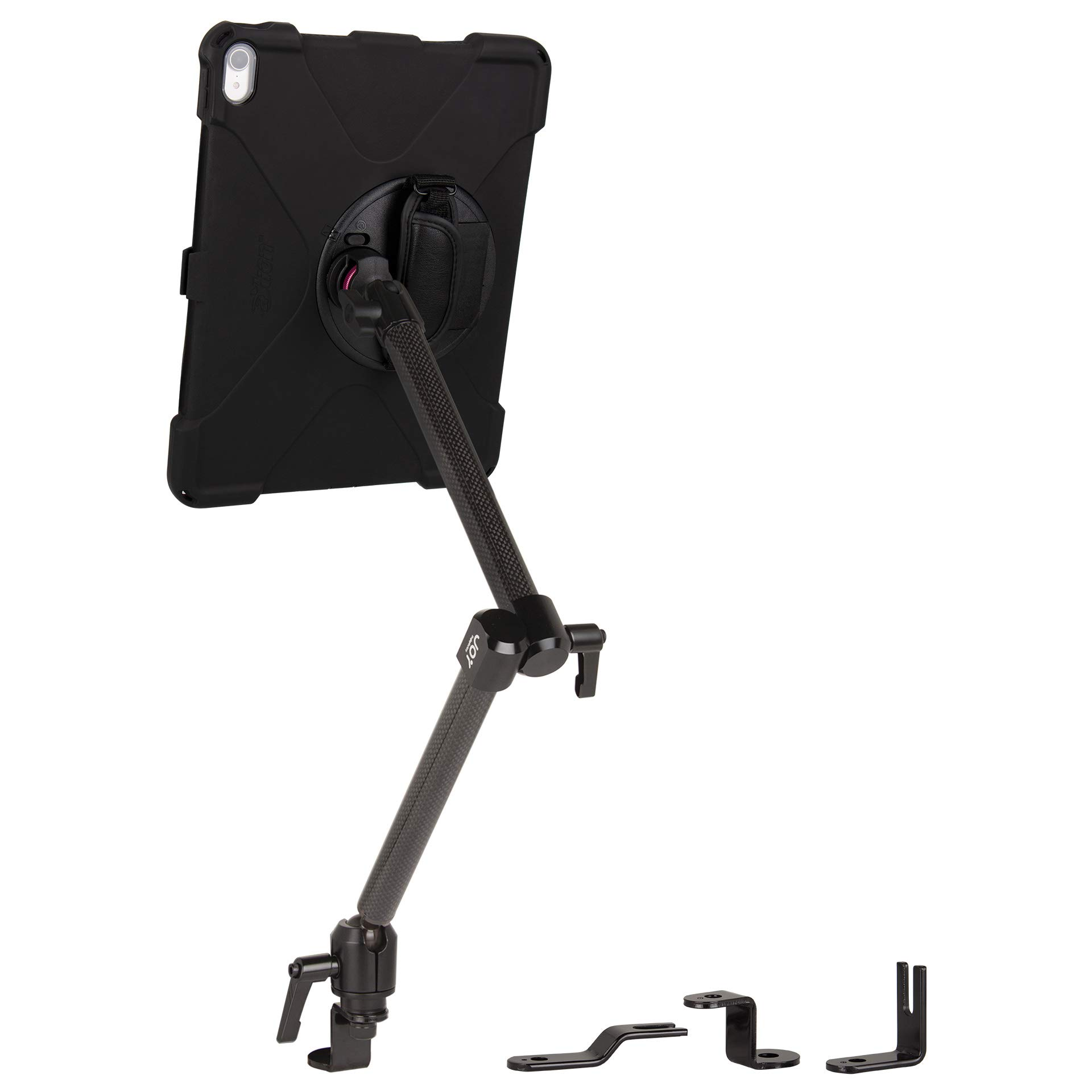 The Joy Factory MagConnect Carbon Fiber Car/Truck Seat Bolt Mount w/aXtion Bold MP Water-Resistant Rugged Shockproof Case iPad Pro 12.9'' [3rd Gen], Built-in Screen Protector, Hand Strap (MWA4105MP) by The Joy Factory (Image #1)