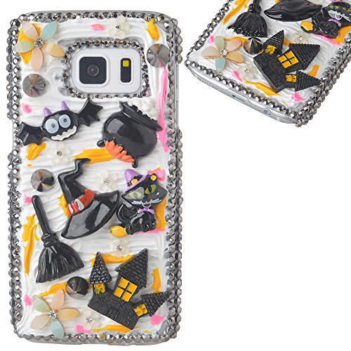 Beauxbatons Halloween Costume (Spritech(TM) 3D Handmade Crystal Phone Case for Samsung Galaxy S7 Edge,Helloween Style Monster Haunted house Design Smartphone Cover)