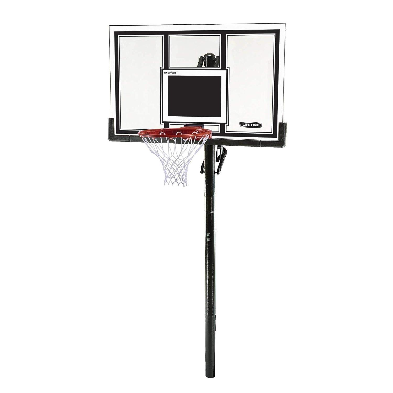 『4年保証』 Lifetime 71525高さ調節可能な地上バスケットボールシステムで、54インチShatterproof Backboard B0013IWT84, ふわふわkitchenシュシュ 42acfbab