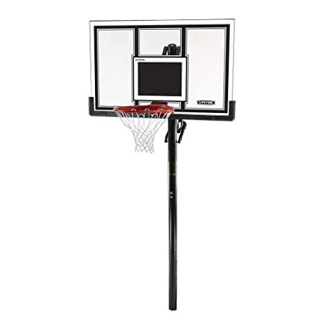 Lifetime 71525 Adjustable In-Ground Basketball Hoop (54-Inch Polycarbonate)