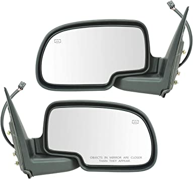 Side View Mirror Power Heated w// Puddle Gloss Black Passenger RH for Chevy GMC
