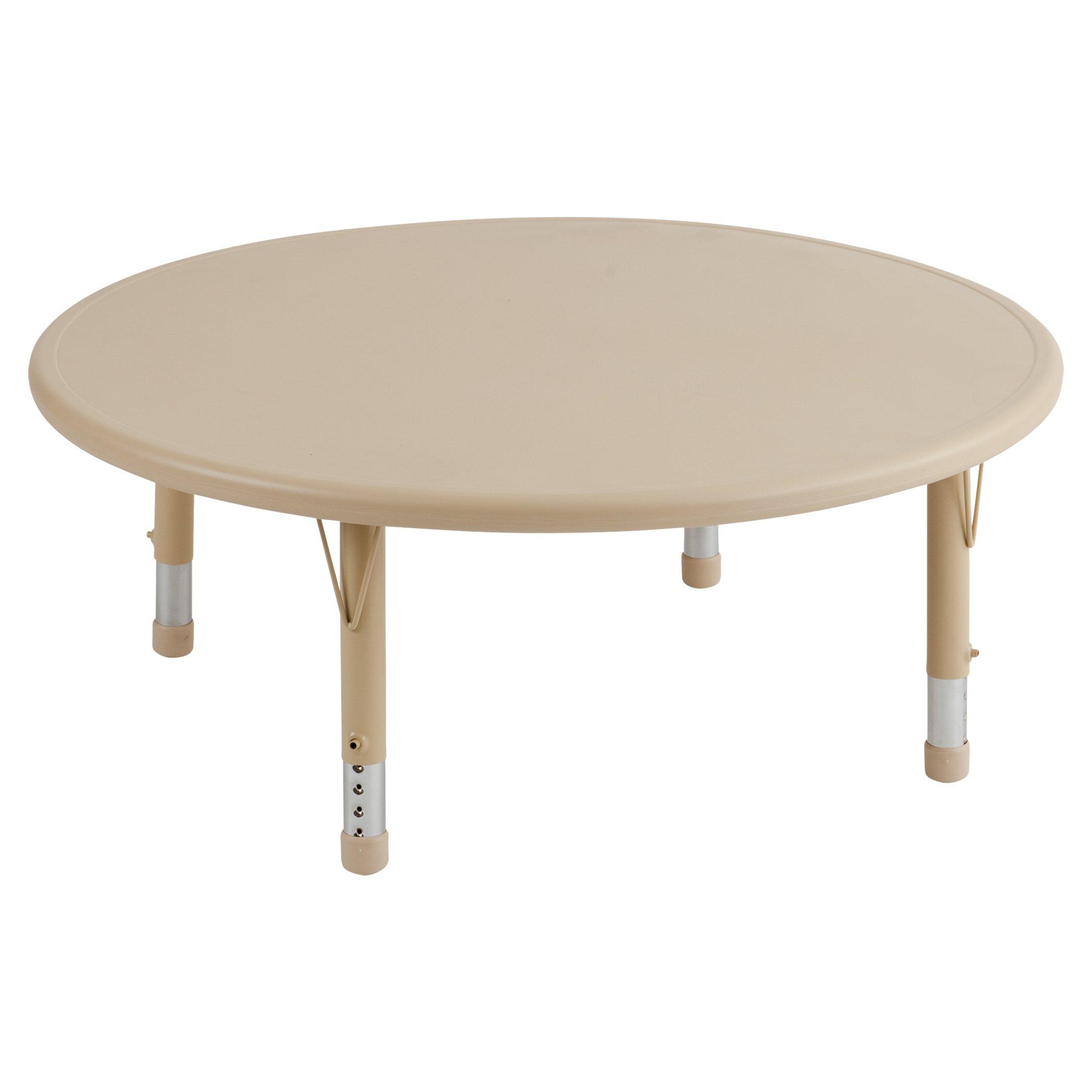 ECR4Kids 45'' Round Resin Activity Table, Sand