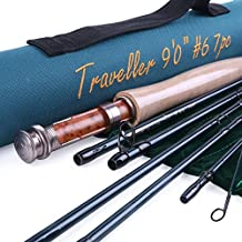 Maxcatch for Traveler 7-piece Fly Rod IM10 Carbon Travel Rod Fly Fishing with Cordura Tube