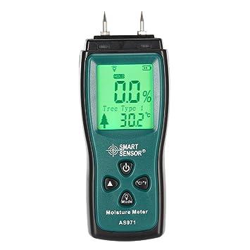 Smart Sensor AS971 medidor de Humedad de Madera Detector de Humedad Timber Damp Detector: Amazon.es: Jardín