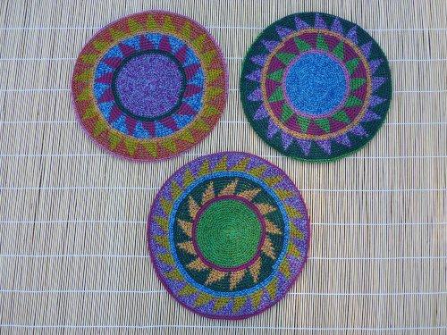 EXTRA Large Tam Beret Slouchy Cap Hat Crochet 100% Natural Cotton Flowertone Star Pattern
